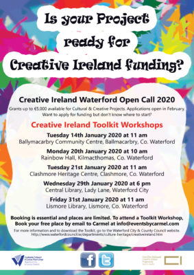 Creative Ireland Toolkit Workshops